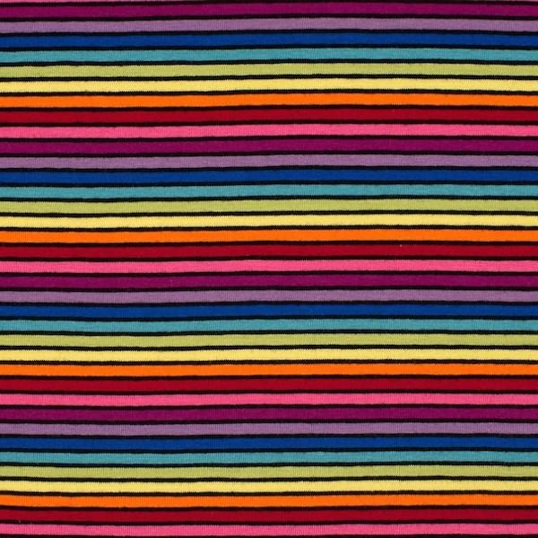 Schmaler Regenbogenjersey mit schwarz