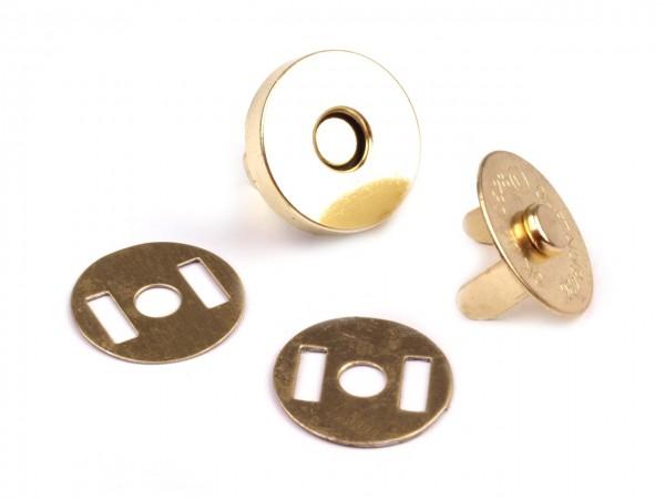 Magnetverschluss, 15 mm, gold
