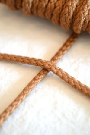 Flechtkordel, 6 mm, mittelbraun
