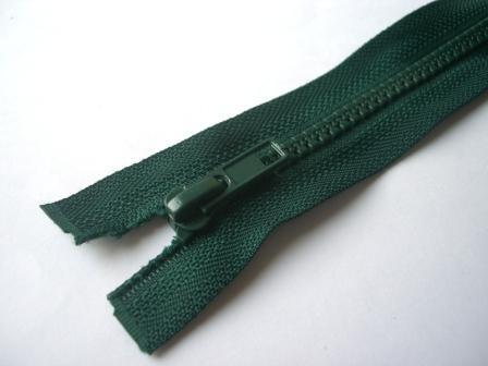 Reißverschluss, teilbar, dunkelgrün