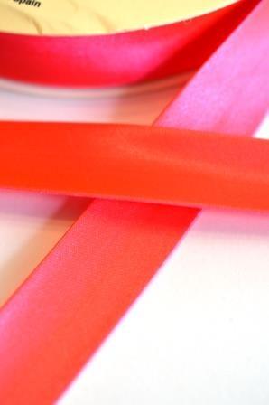 Neon-Satinschrägbänder, pink