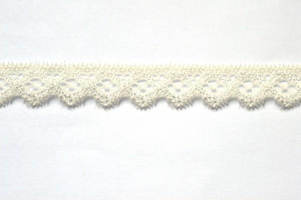 elastische Spitze mit Zacken, creme