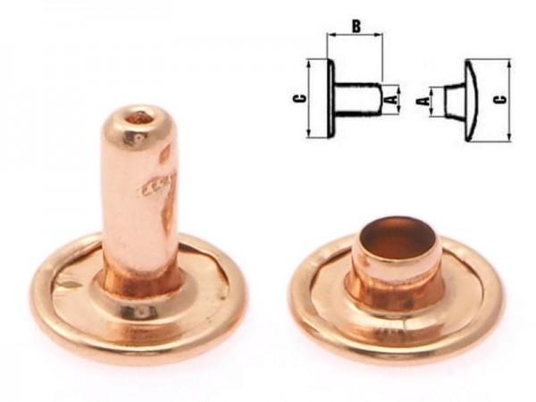Hohlnieten, 7 mm, kupfer/ rose gold