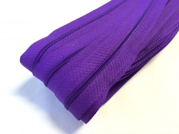 Endlosreißverschluss, dunkles violett