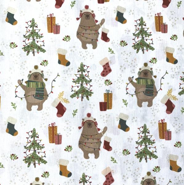 Xmas Weihnachtsbären, Baumwollstoff
