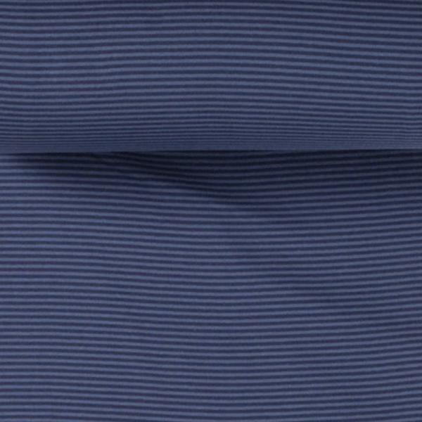 Ringelbündchen dunkelblau/blau, gestreift