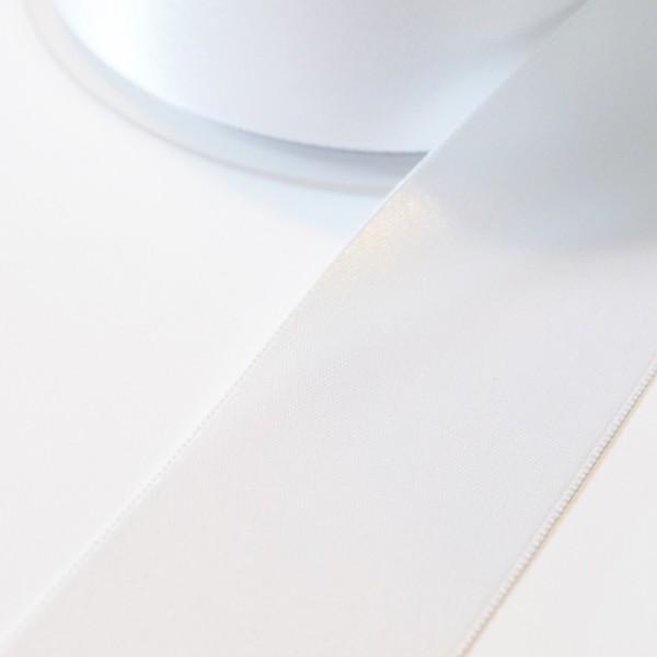 Satinband, weiß, 38 mm