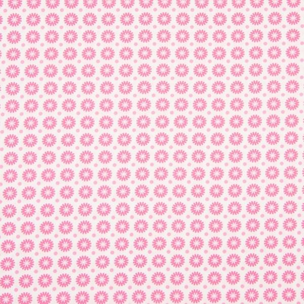 Bella Kleine Blümchen pink, Webstoff