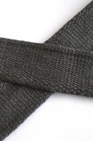 Baumwollgurtband, dunkelgrau, 2,5 cm
