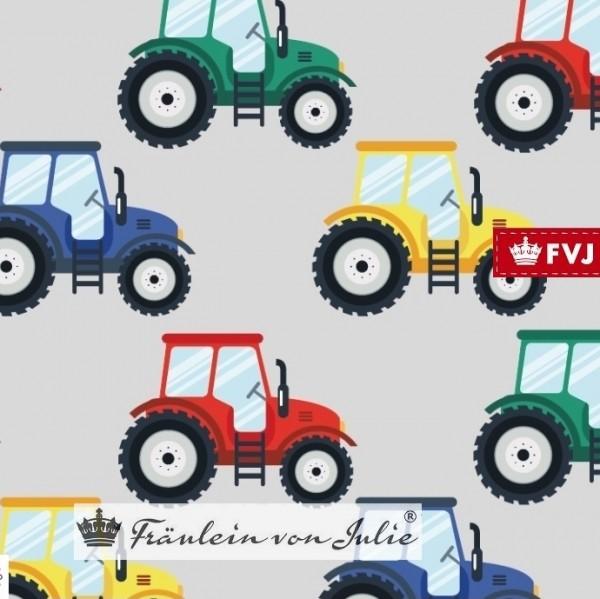 Fräulein von Julie, Bunte Traktoren auf grau, Jersey