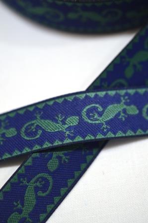 Salamander, blau, Webband *SALE*