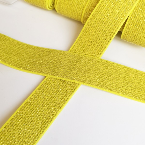 Glitzergummiband, gelb