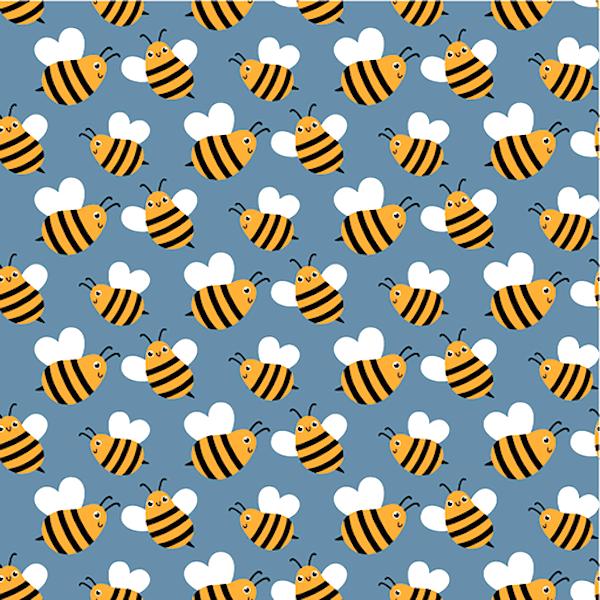 Bienchen auf mittelblau, Jersey