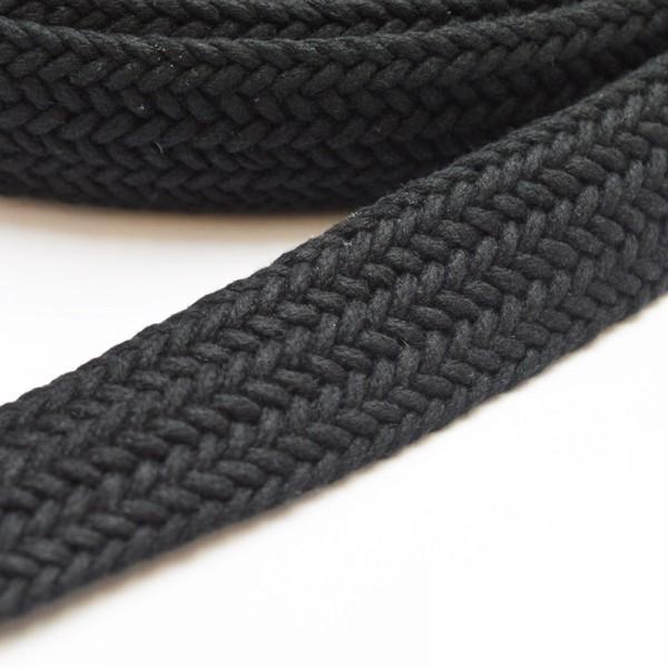 Gurtband, geflochten, schwarz