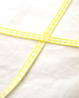 Band, gelb kariert, 5 mm