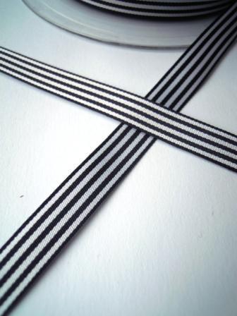 Stoffband, dunkelblau gestreift, 10 mm