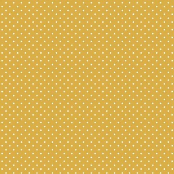 Lili Punkte klein, senfgelb, Webstoff, waschbar bei 60°