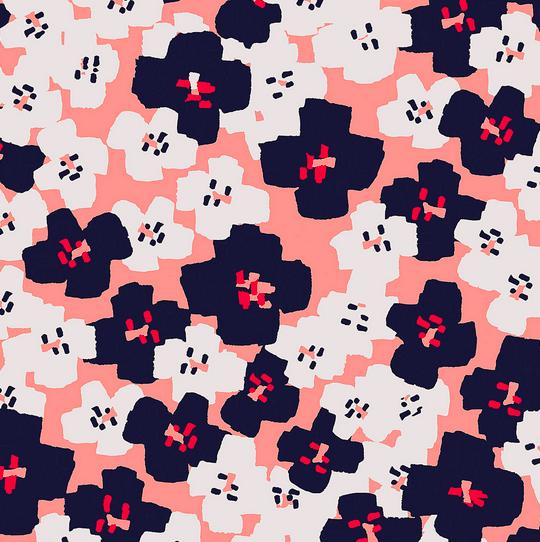 Laminat/Wachstuch, Blumen Okina Hana