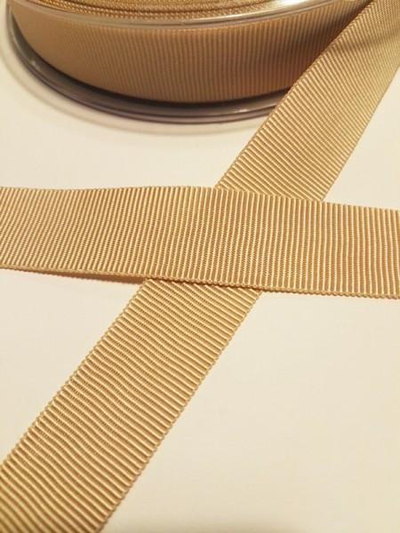 Ripsband, beige