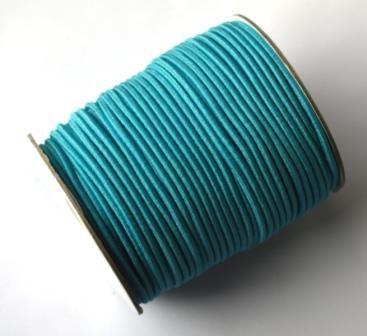 Gummischnur, 2 mm, türkis