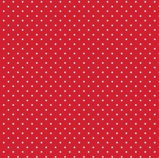 Lili Punkte klein rot, Webstoff, waschbar bei 60°