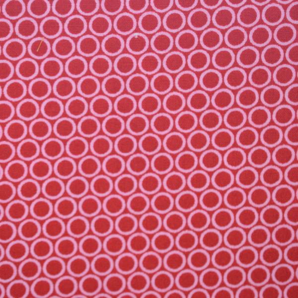 Lena, bunte Kreise, rot-rosa, Webstoff