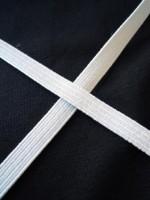 Einziehgummi, weiß, 8 mm