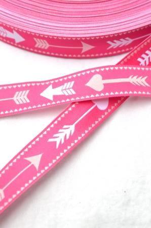 Pfeile, pink, Webband