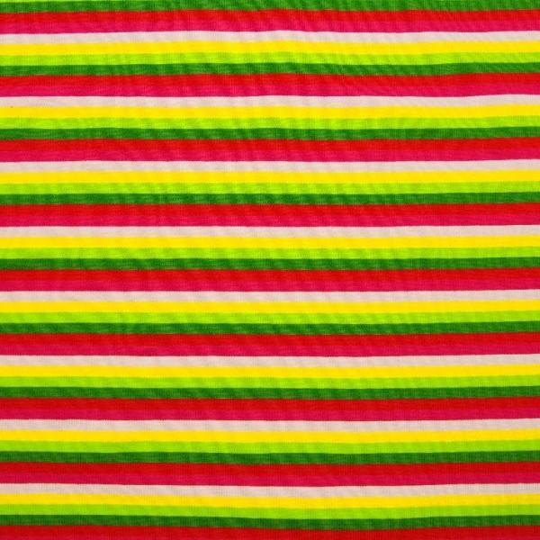 Bunte Streifen 6-färbig rot-rosa-gelb-grün, *SALE*