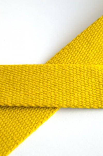 Baumwollgurtband, gelb, 2,5 cm
