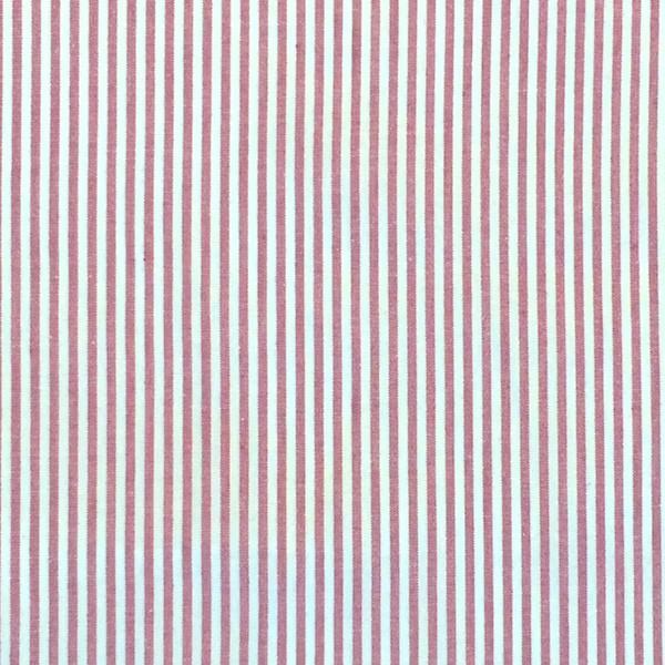 Feiner Streifenstoff dunkelrot-weiß, Yarn Dyed