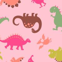 ZNOK Dino pink, Bio-Jersey