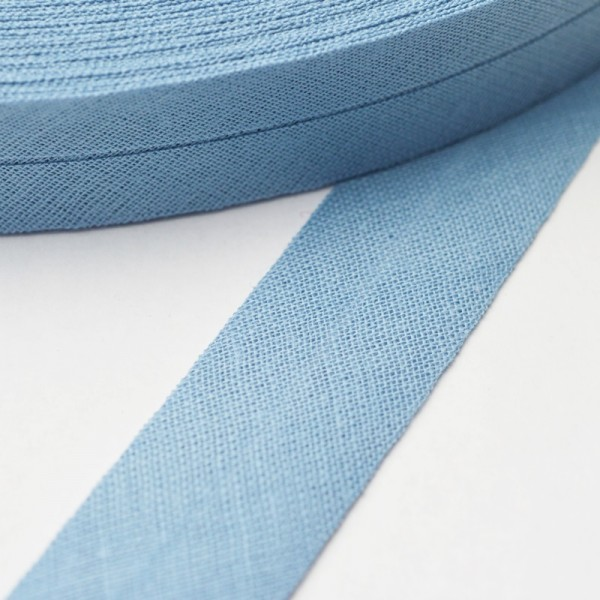 Schrägband, 20 mm, taubenblau