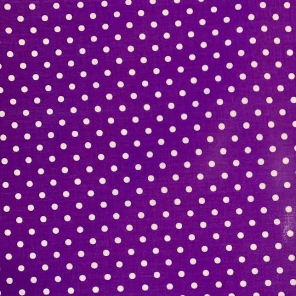 Laminat, Punkte weiß auf lila