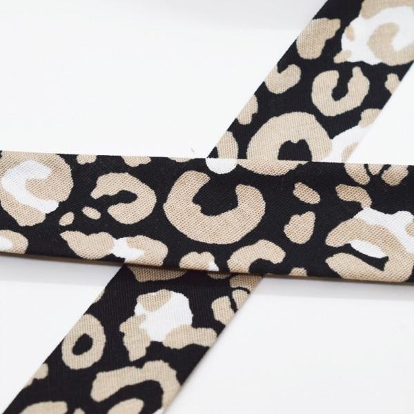 Schrägband, Animal print, schwarz