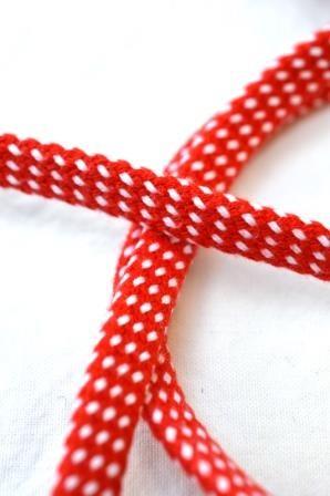 Hoodieband, rot-weiß