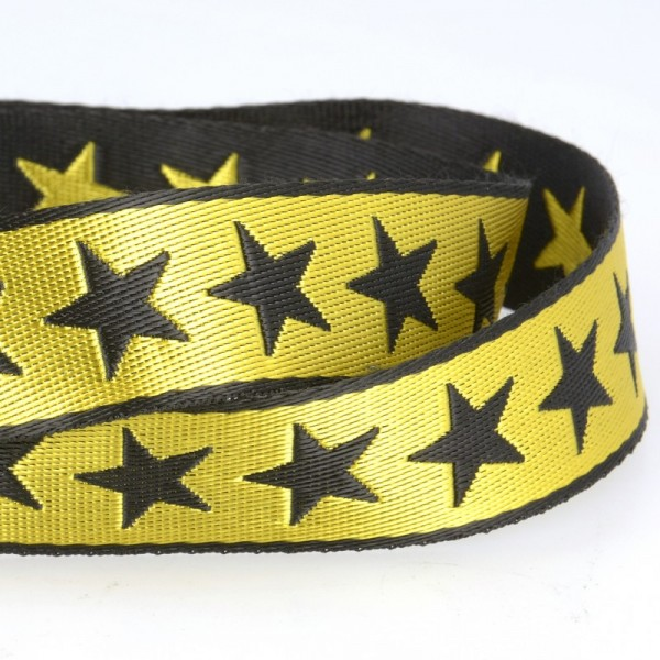 Gurtband, Sterne gelb, beidseitig
