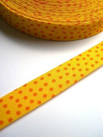 Westfalen Schrägband, gelb mit orangen Punkten