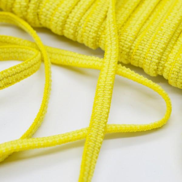 Flachgummi, gelb, 5 mm