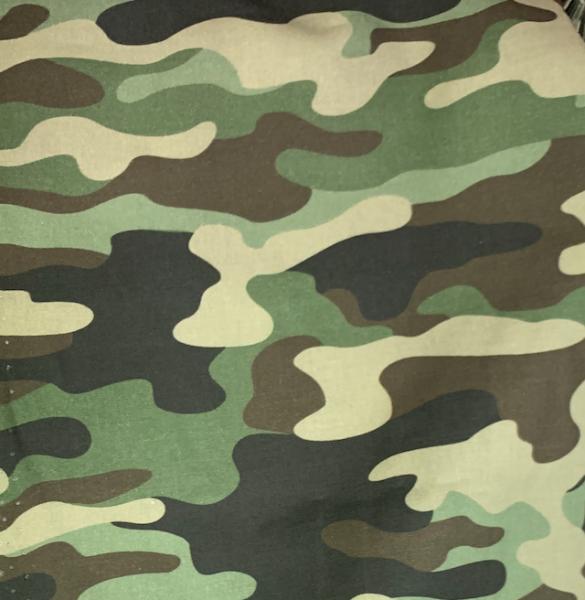 Camouflage grün, Baumwoll-Popeline