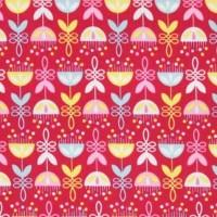Tante Ema, Sambablüten auf pink, Webstoff
