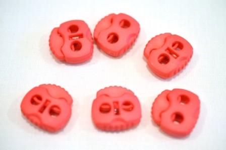 Kordelstopper, 2 löchrig, pink (matt)