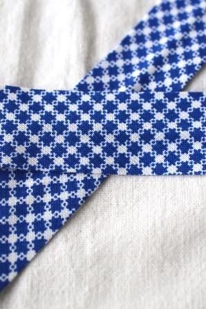 Schrägband, Karosternchen, blau