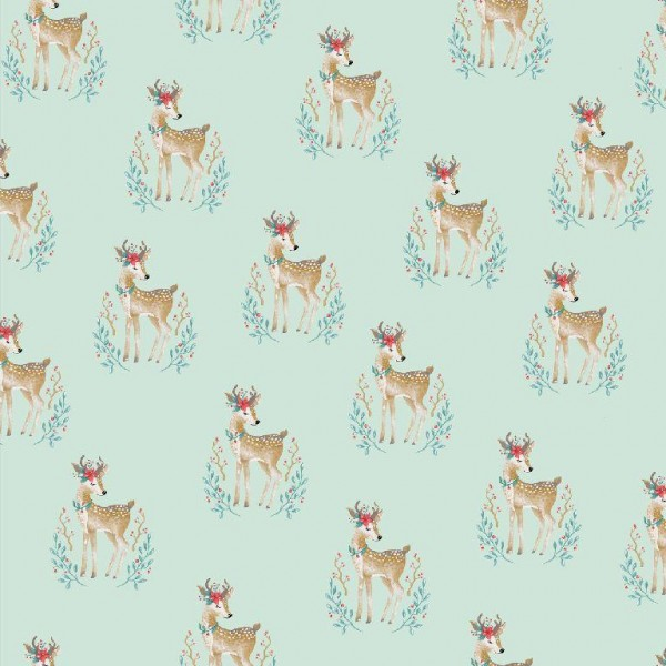 Woodland Deer mint, Baumwolllstoff