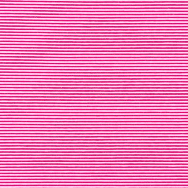 Jersey, Schmale Streifen pink-weiß