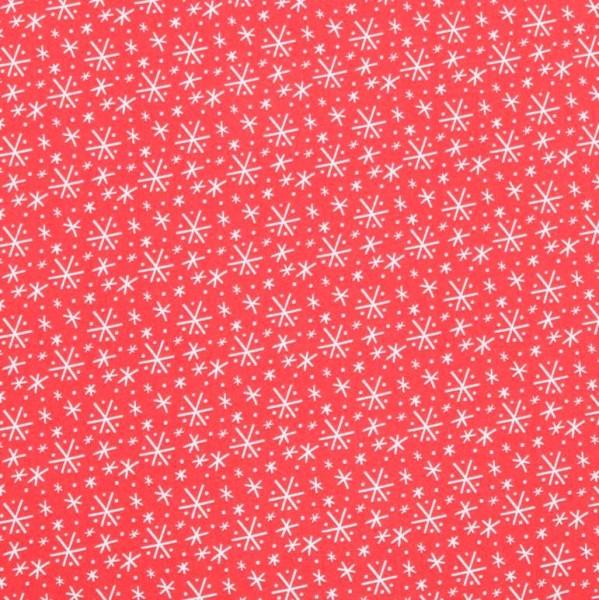 blendfabrics, Snowlandia, Sternchen rot