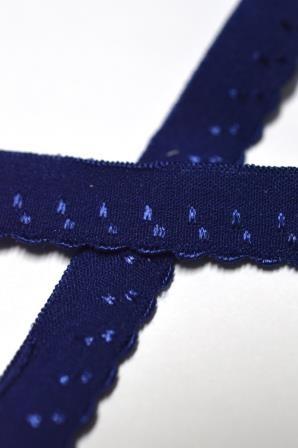 Unterwäschegummi, dunkelblau