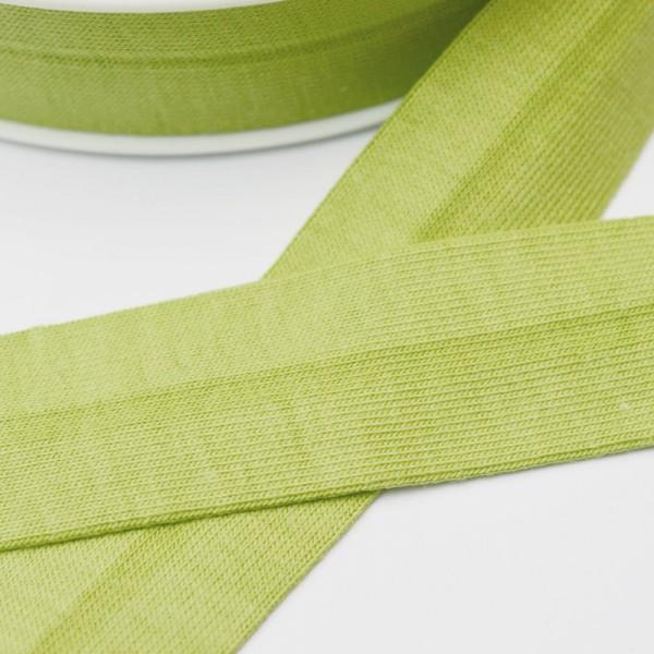 Baumwolljersey-Schrägband mit Elasthan, hellgrün