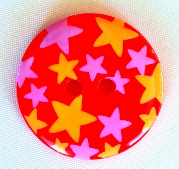 Stars, rot, Knopf