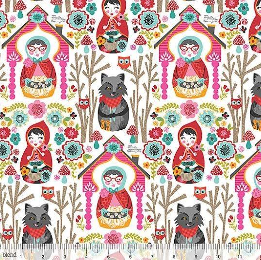 blendfabrics, Riding Hood Story weiß, Webstoff